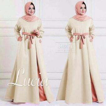 Jakarta Couple - Maxi Lucia Cream Maxi Cantik Maxi Murah Fashion Wanita COD