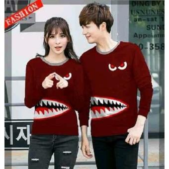 Harga Jakarta Couple Sweater Pasangan Shark Sweater Couple Baju Couple Murah Fashion .