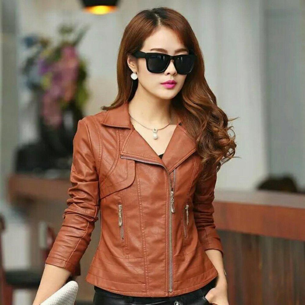 jaket blazer semi kulit wanita
