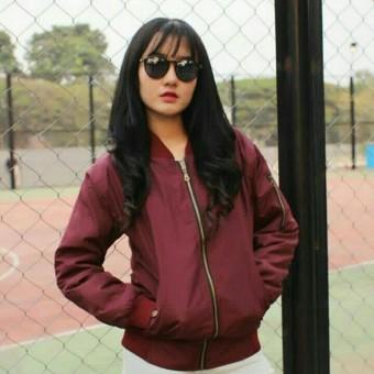 Jaket Basic Womens Bomber Trendy l Bahan Parasut Tebal