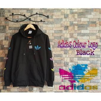 Jaket Colourfull Logo Black / Jaket Hoodie Pria Harian Murah / Jaket Distro Pria / Jaket
