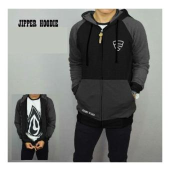Jaket Friday Killer Hitam Abu Hoodie Distro Fleece