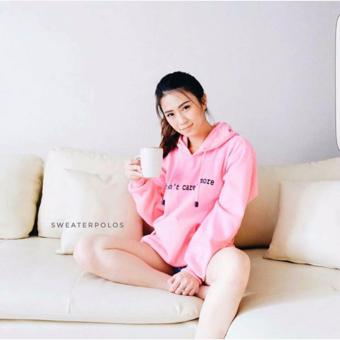 Jaket Hoodie Jumper I Don't Care Anymore (IDCA) Polos PINKBABY - M