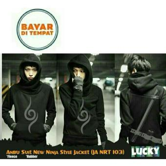 Jaket Hoodie New Ninja Style Anime Naruto Anbu Sword Black Best Seller