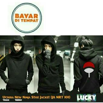 Jaket Hoodie New Ninja Style Anime Naruto Uchiha Black Best Seller