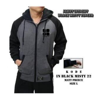 Jaket Insight Abu Tua Hoodie Distro Fleece
