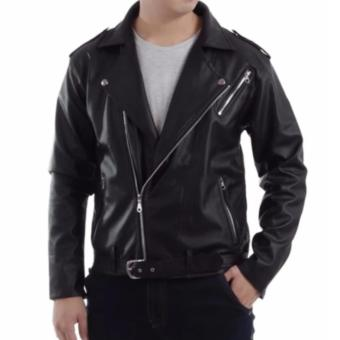 JAKET KULIT THE CANGCUTERS STYLE BLACK
