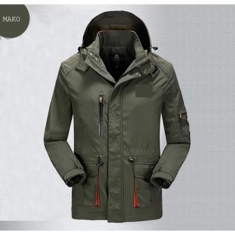 Jaket Mako Hijau Army Polos Parasut Anti Air Bagus Murah Waterproof Parka  Pria Wanita Promo Distro ffc9d40add