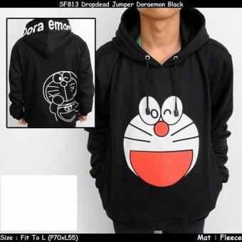 Jaket sweater doraemon black 001