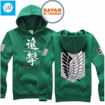 Jaket Sweater Hoodie Anime Attack On_Titan Best Seller - Green