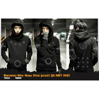 Jaket Sweater Hoodie Anime Naruto Rikudou New Ninja Style Jacket (JA NRT 102) Best Seller - Black
