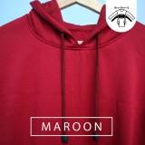... Jaket Sweater Polos Hoodie Jumper Merah Maroon - Premium Quality - 3 ...
