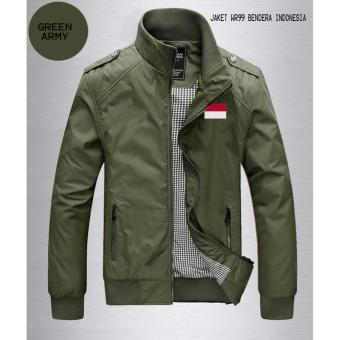 Jaket WP Green Army Logo Bendera Indonesia