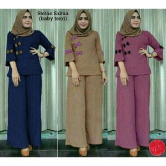 J&C Setelan Salma / Setelan Wanita / Baju Celana / Setelan Muslim / Hijab Fashion /