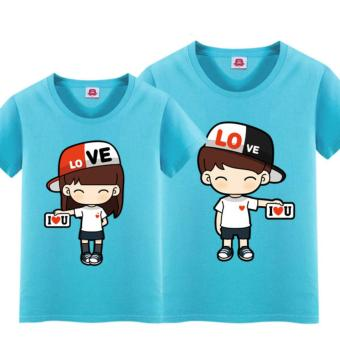 JC - Kaos Couple Topi Love Model Terbaru / Tshit Couple / Baju Pasangan