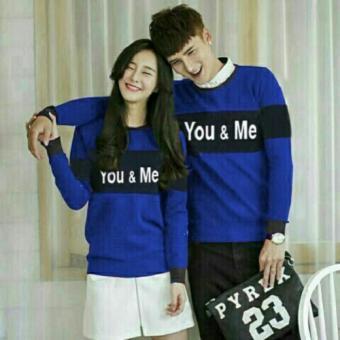 JC - Kaos Couple Yumi Spandex Lengan Panjang /Kaos You Me / Kaos Youn &