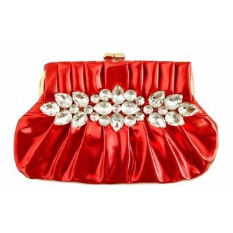 JCF Tas PREMIUM Fashion Clutch Rosaline Cantik Pesta Mewah Elegan Berkualitas Import Korean Style High Quality