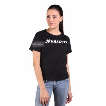 Hot Deals JCLOTHES Kaos Cewe / Tumblr Tee / Kaos Wanita Anjay - Hitam terbaik murah