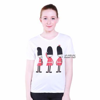 Hot Deals JCLOTHES Kaos Cewe / Tumblr Tee / Kaos Wanita Soldiers - Putih terbaik murah