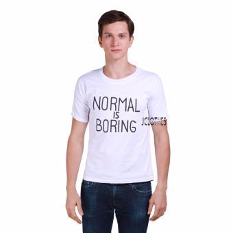 JCLOTHES Kaos Pria / Tumblr Tee / Kaos Cowo Normal Is Boring - Putih