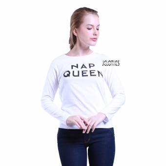 Harga JCLOTHES Tumblr Tee Kaos Cewe Kaos Lengan Panjang Wanita Nap Queen Putih .