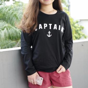 Review of JCLOTHES Tumblr Tee / Kaos Cewe / Kaos Lengan Panjang Wanita Captain - Hitam