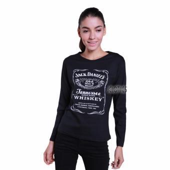 JCLOTHES Tumblr Tee / Kaos Cewe / Kaos Lengan Panjang Wanita Jackdaniels - Hitam