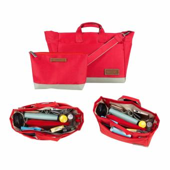 Jeddy Bag Organizer (Red) D'renbellony - Tas Organizer - Handbag Organizer Mini Bag