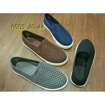 jelly shoes sepatu pria luofu karet import slip on 6005 40-44
