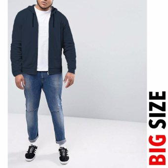 Jfashion Big Size Jaket Hoodie Pria dewasa variasi seleting - Vin