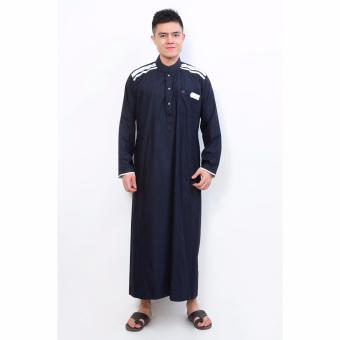 Jfashion Men's Gamis Jubah Tangan Panjang - Cordova Navy