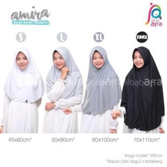 Jilbab afra/amira bahan kaos L