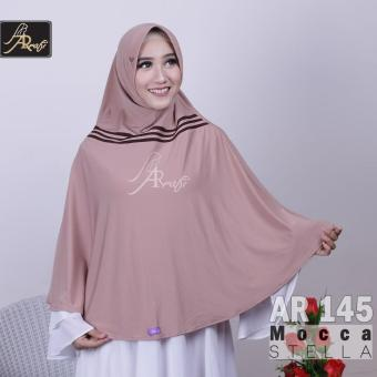jilbab instan Amina syari Arrafi (warna Mocca) - AR 145 - hijab kerudung khimar