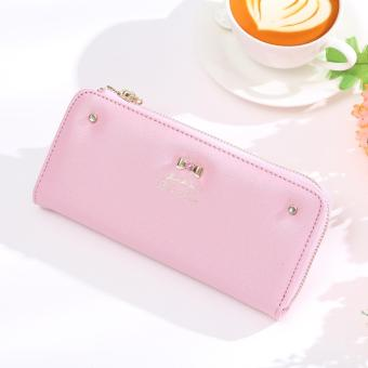 Jims Honey - Dompet Fashion Wanita - Zipper Wallet (Softpink)