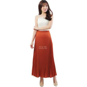 Review of JO & NIC Pleated Long Skirts - Rok Panjang Lipit Fit to XL -