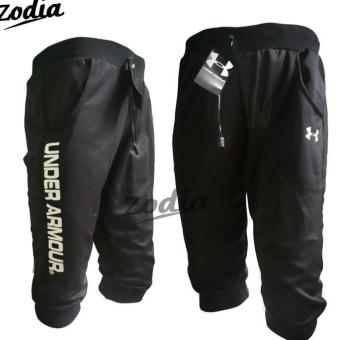 Jogger Pants 3/4 Under Armour - Hitam - Celana Olahraga - Hot Items