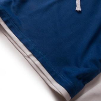 Tampan Korea Fashion Style Pria Slim Mahasiswa Lengan Pendek Kemeja Source · Joy Korea Versi Longgar Panjang Lengan hoodie biru Intl