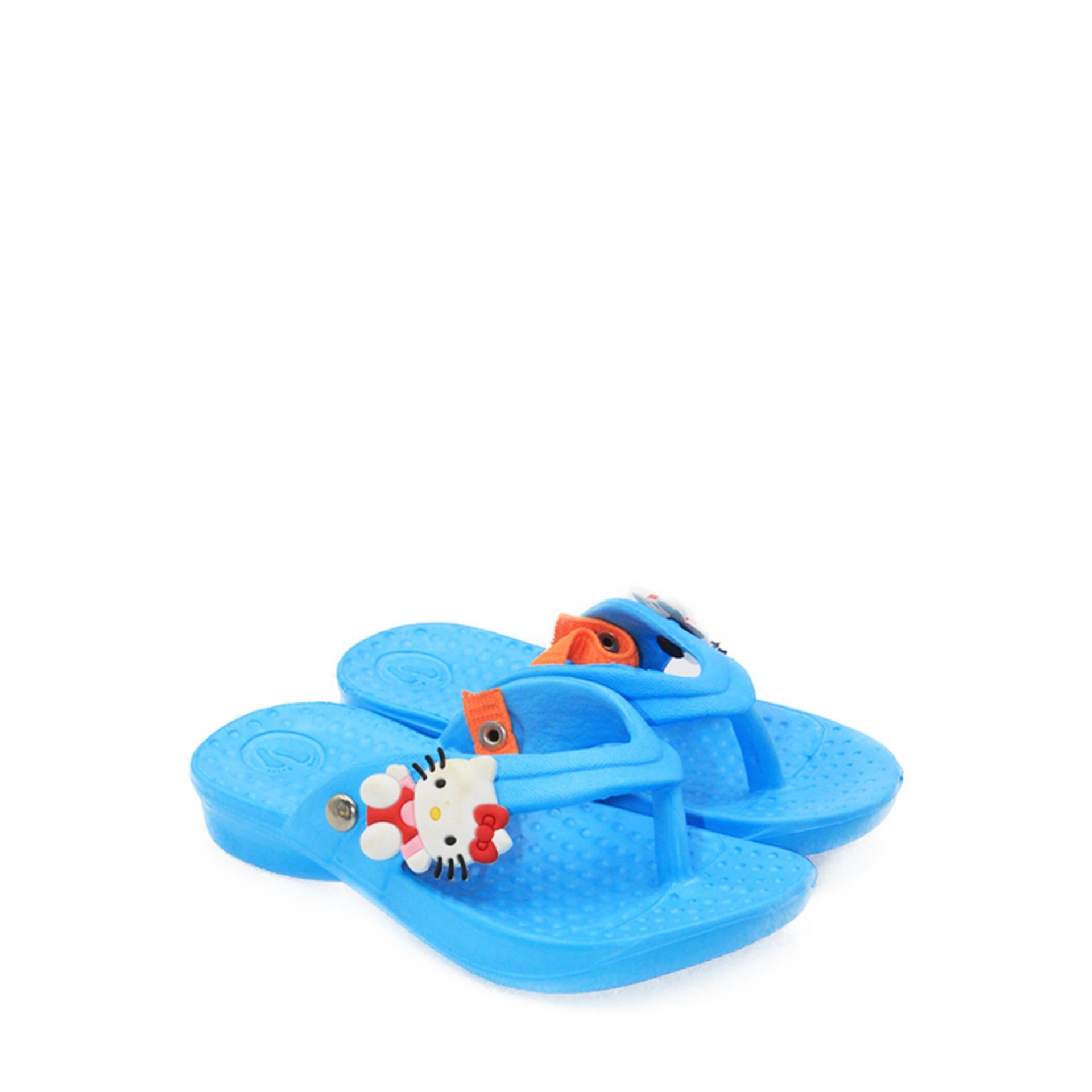 kanan-kiri sandal jepit anak perempuan t 09 – blue size 18-23