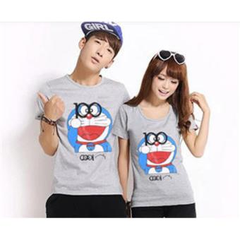 Kaos Couple / Baju Pasangan / Soulmate Doraemon 100 Abu