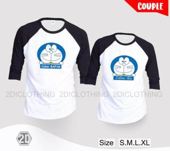 Kaos Couple Doraemon / Kaos Pasangan Doraemon