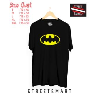 Kaos distro batman cotton combed 30 s