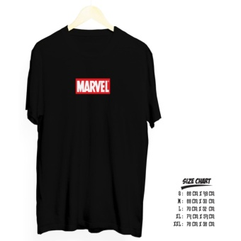 kaos distro distro ss marvel cotton combed 30 s hitam