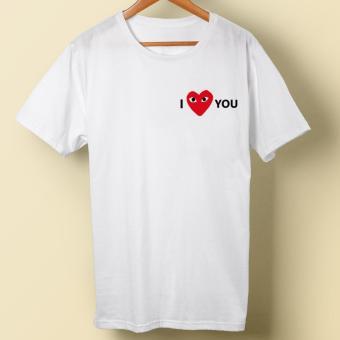 Kaos Distro PLAY I Love You - White