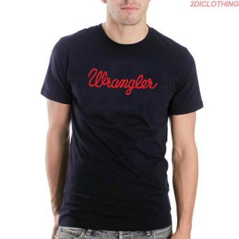Kaos Distro Wrangler - Black Tshirt Wrangler Red Print Premium 2diclothing 49f59edd8a