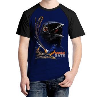 Kaos Murai Batu Reguler 01 Navy - Bawara, Price Check. kaos burung murai batu