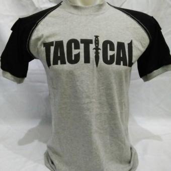 Kaos Tactical Pendek Abu Misti Kombinasi Hitam - C6E96D