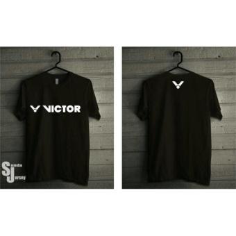 Kaos Tshirt Baju Combed 30S Distro Badminton Victor Bulu Tangkis Murah