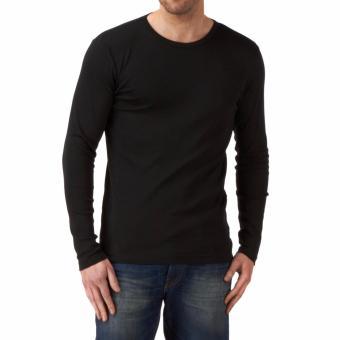Kaos55 Kaos T-Shirt O-Neck Lengan Panjang Slim - Hitam