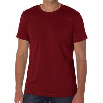 Kaos55 Kaos T-Shirt O-Neck Lengan Pendek - Merah Maroon
