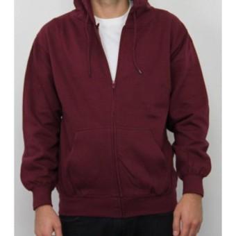 Cek Harga Baru Kaosbro Jaket Hoodie Zipper Polos Merah Wanita ... 3b58e42c29
